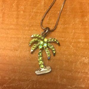 Jewelry - Rhinestone palm tree necklace